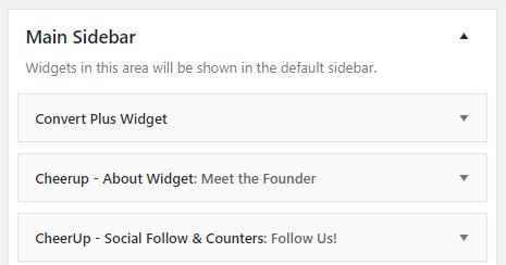 opt-in widget for sidebar