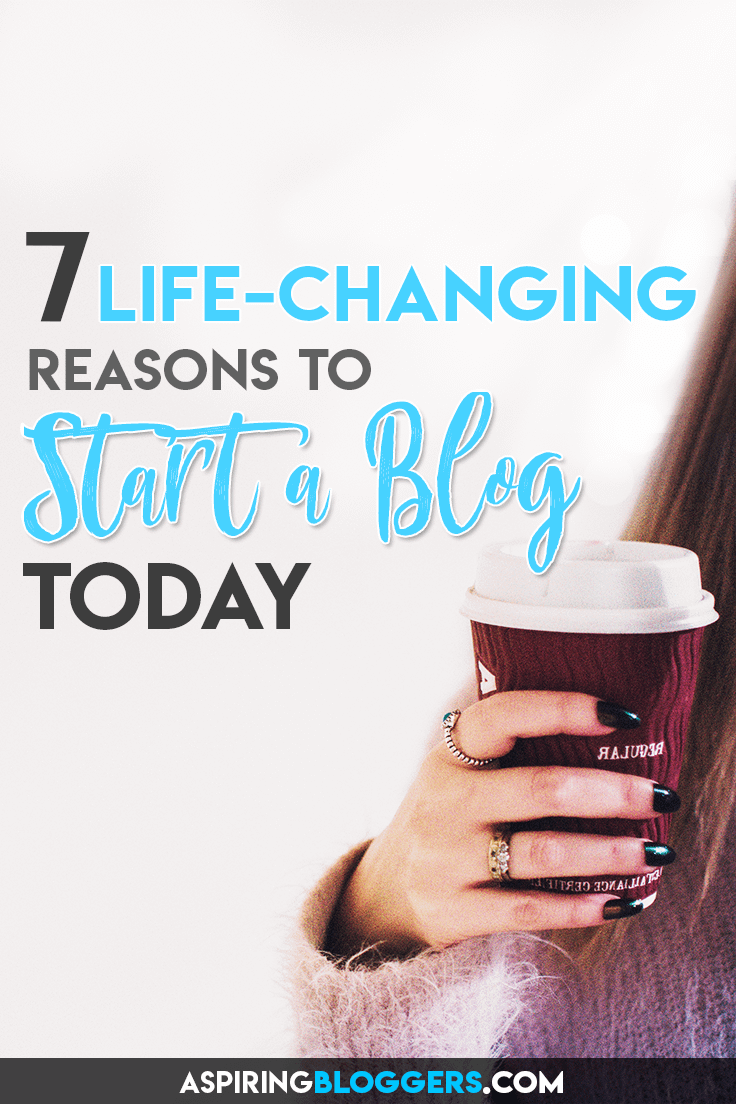 Learn 7 different reasons why you should start a blog today #bloggingtips #startablog #startabusiness