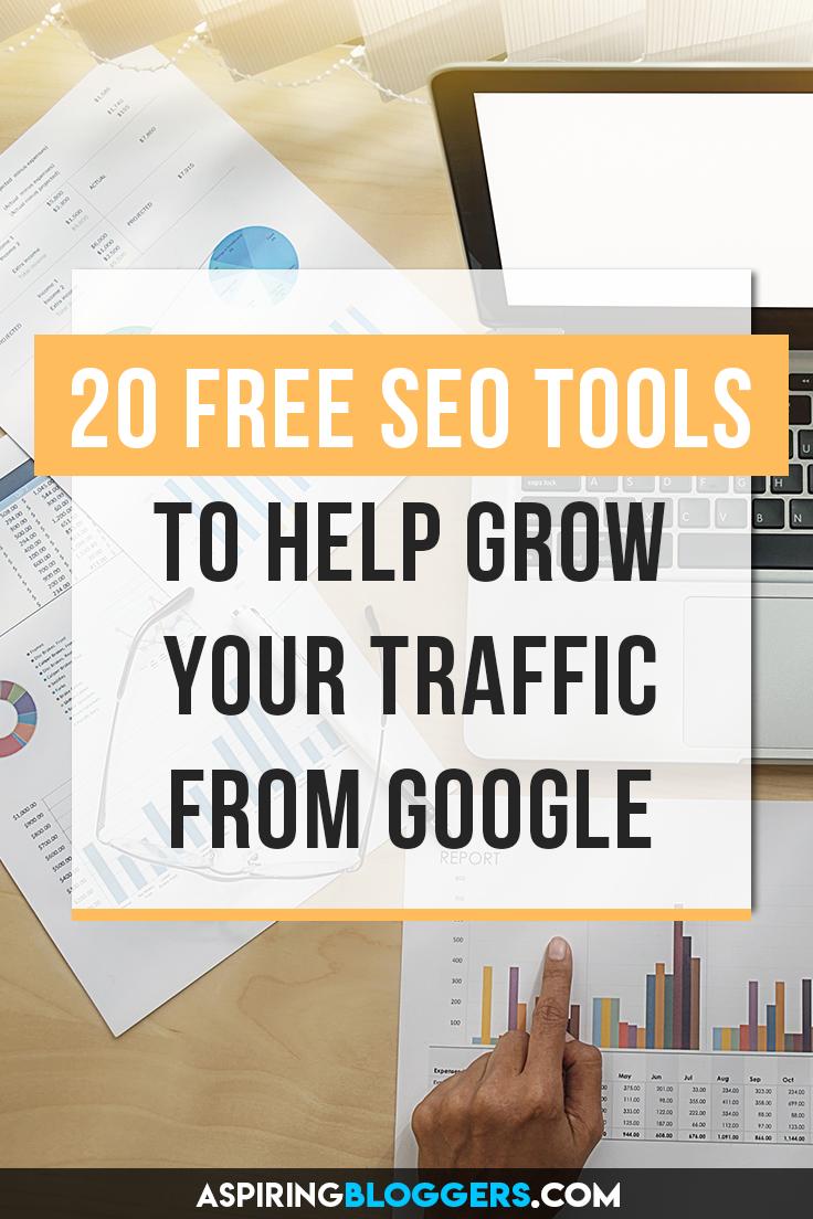 20+ Free SEO Tools for Bloggers. SEO tools free, SEO tools Google, SEO tips, SEO for beginners, SEO for bloggers, SEO for dummies, grow organic traffic.