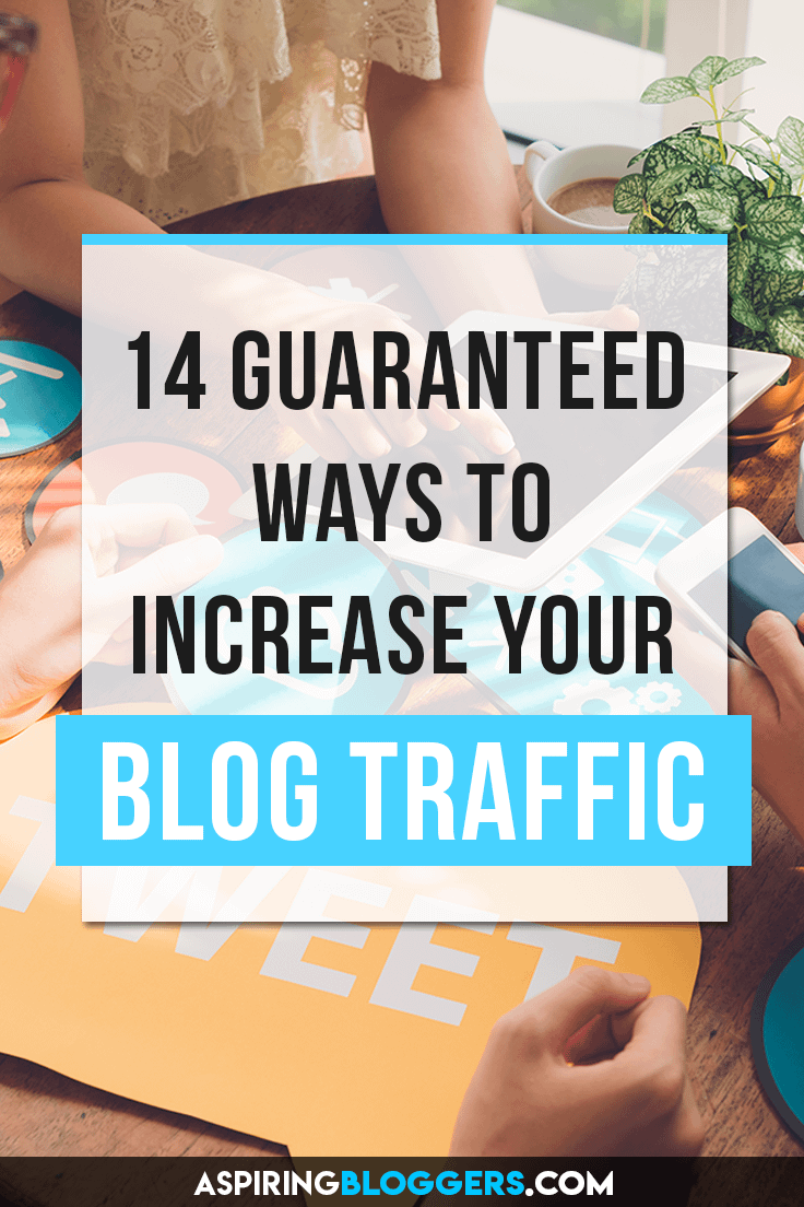 14 Blog Marketing Strategies for Guaranteed Blog Traffic. Blog promotion, blog traffic tips, promote blog post, more blog traffic, more blog views.