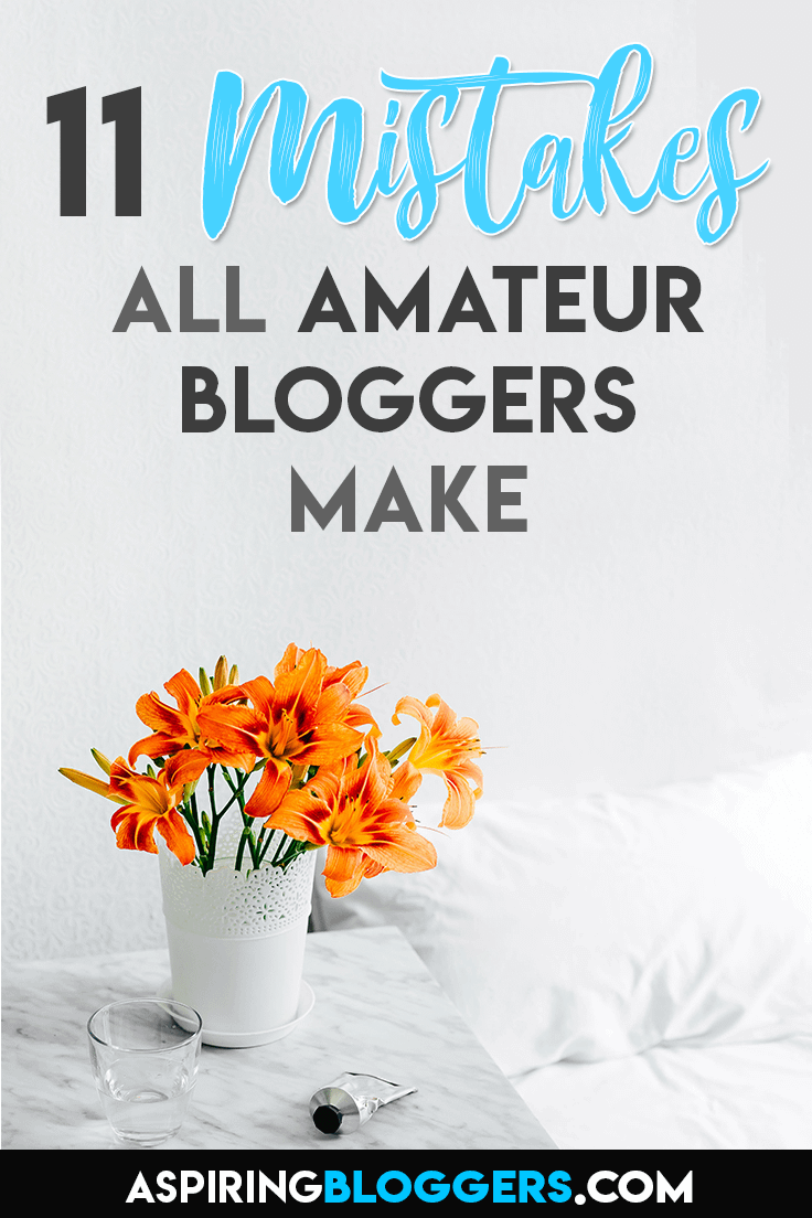 Learn the most common blogging mistakes that prevent amateur bloggers make. Start blogging like a pro by avoiding these mistakes.